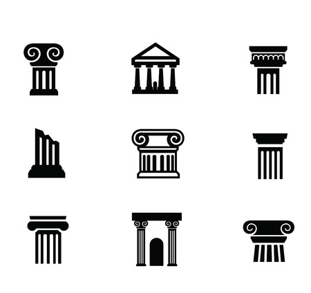 roman pillar: column icon