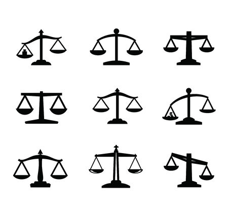 judicial system: scales icon Illustration