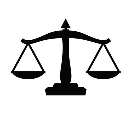 acquittal: scales icon Illustration