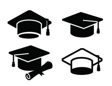 graduation map icon Illustration
