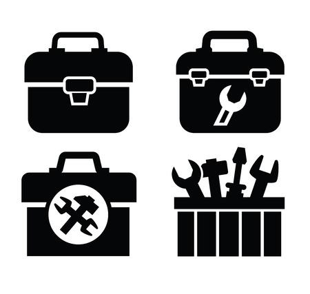 toolbox with tools Ilustração