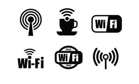 technology wi fi 向量圖像