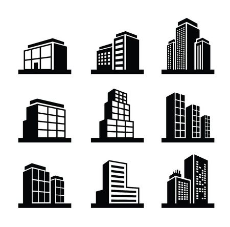 modern office: Building icon Illustration