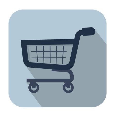 oncept: shopping cart Illustration