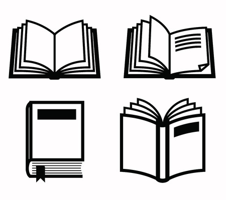books isolated: books icon Illustration