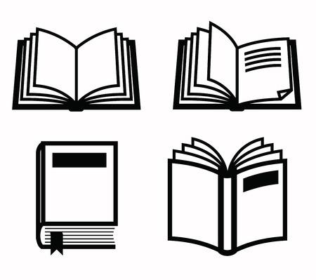 icon buttons: icono de libros  Vectores