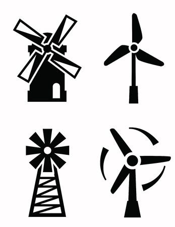 Icônes éoliennes Banque d'images - 33473002