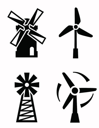 netherlands: windmill icons