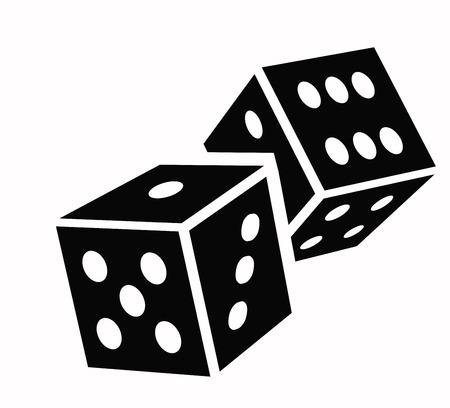 dice cubes icon Vector