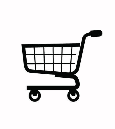 supermarket cart: shopping cart icon