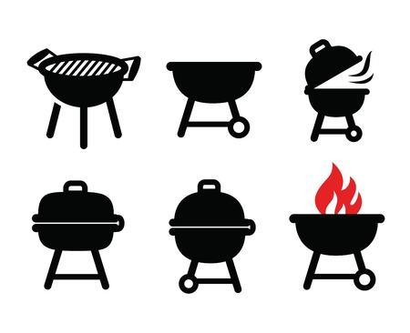 Icone barbecue Archivio Fotografico - 33488155