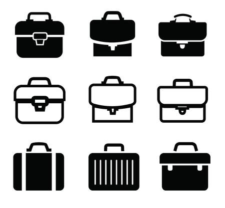brief case: briefcase icons