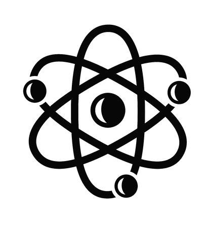 atom symbol: atom icon Illustration
