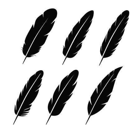 pluma: Icono de pluma Vectores