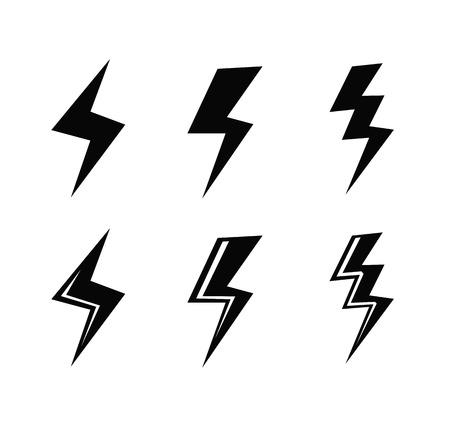 rainstorm: Lightning icon Illustration