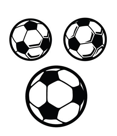 futbol soccer dibujos: Balón de fútbol Vectores