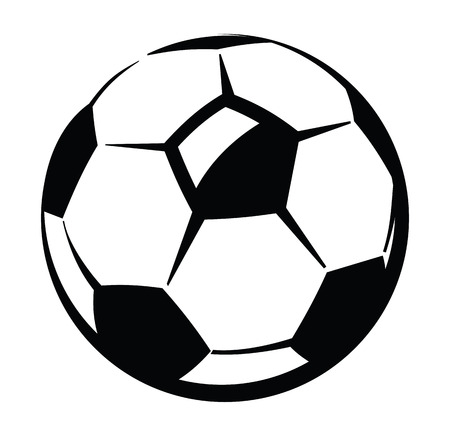 cartoon ball: Soccer ball