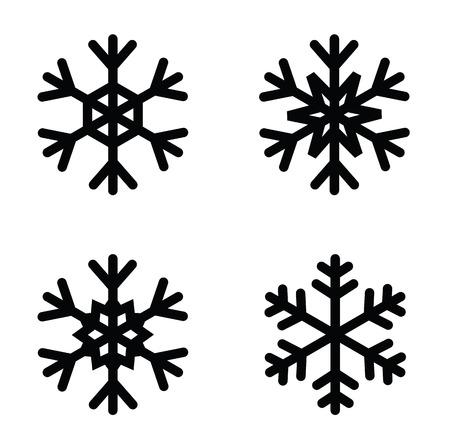snow flake: snowflakes icon Illustration
