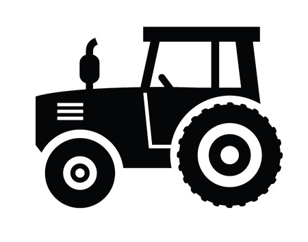 machinery: Tractor icon Illustration