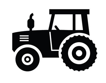Tractor icon Vectores
