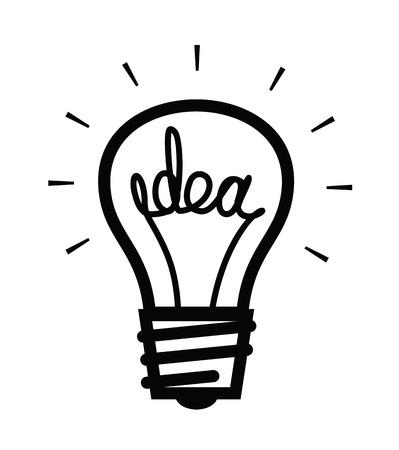 idea lamp: Idea bulb icon