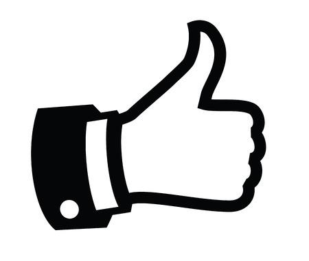 親指を立てる  イラスト・ベクター素材