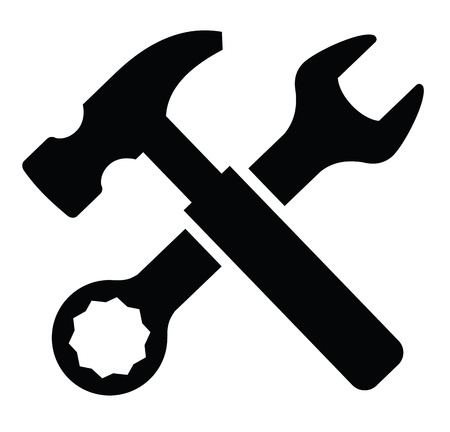 Wrench and Hammer Illustration