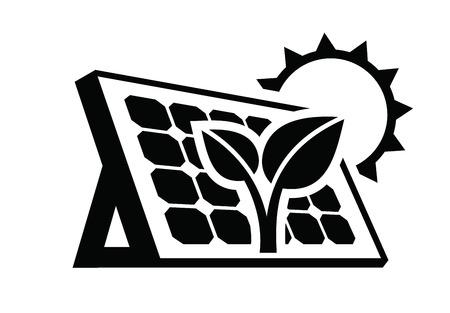 icono de panel solar