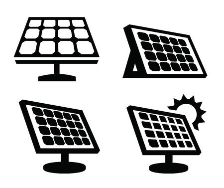 태양 전지 패널 아이콘 일러스트