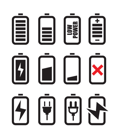 polarity: battery icon Illustration