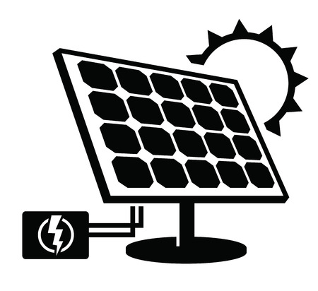 solar equipment: solar panel icon Illustration