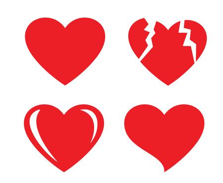 silhouette coeur: forme de coeur Illustration