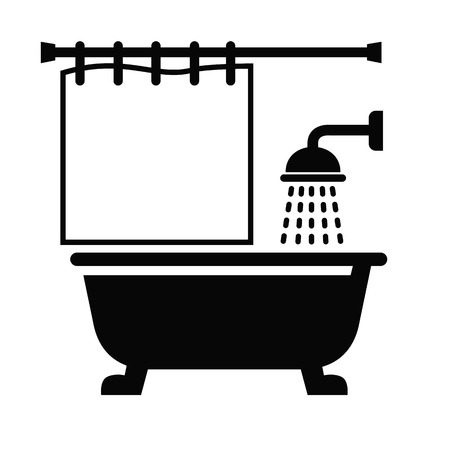 showering: Bathroom icon