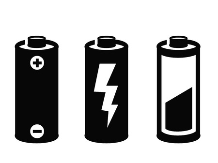 alkaline: battery icon Illustration