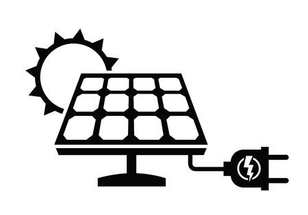 PLACAS SOLARES: icono de panel solar  Vectores