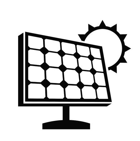 Ikona panel słoneczny Ilustracje wektorowe