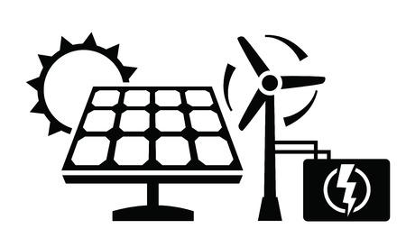 electrical panel: solar panel icon Illustration