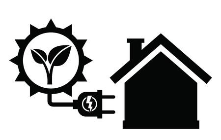 electrical system: solar panel icon Illustration