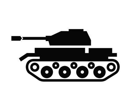 tanque de guerra: Icono del tanque Vectores