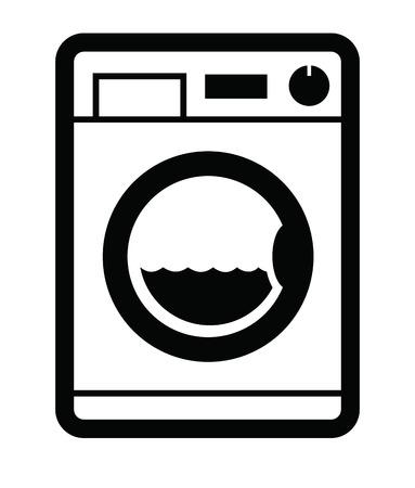 major household appliance: Washing machine icon Illustration