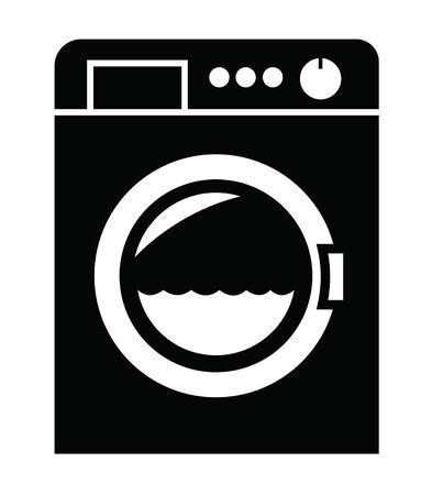 laundry machine: Washing machine icon Illustration
