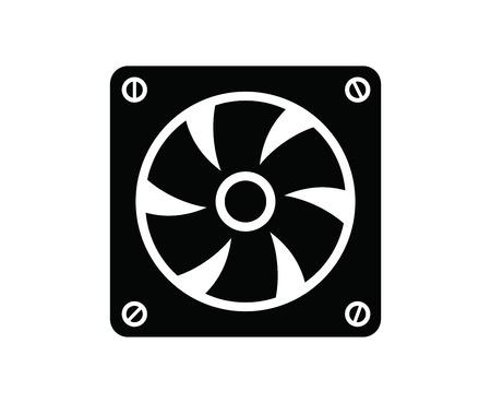 ventilator: computer fan Illustration