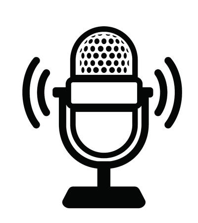studio microphone: Microphone Icon Illustration