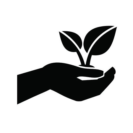 manos abiertas: Icono de Crecimiento Vectores