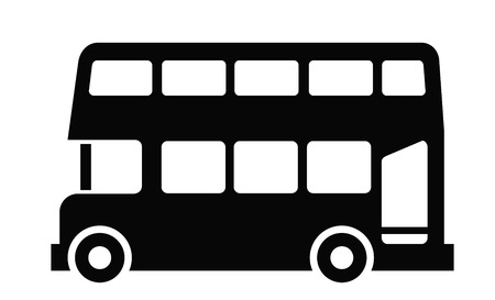 double decker bus: London bus Illustration