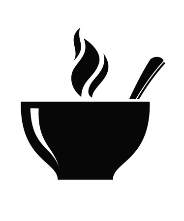 breakfast cup: soup icon Illustration