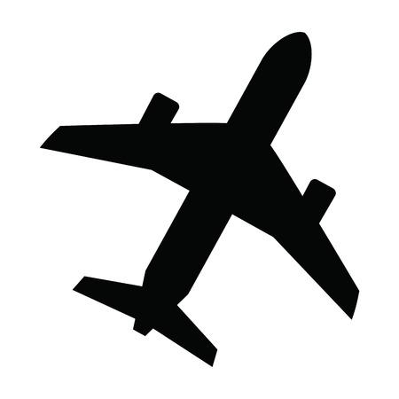 black Airplane Vector
