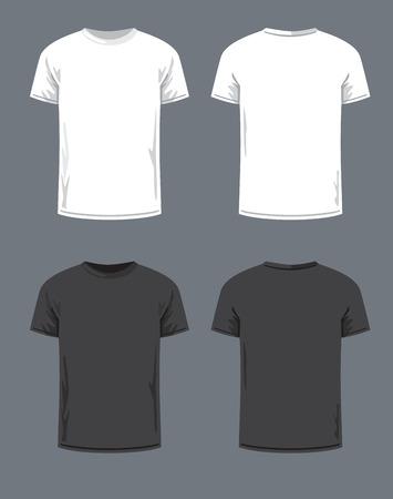Vektor-schwarzes T-Shirt-Symbol auf grauem Hintergrund Illustration