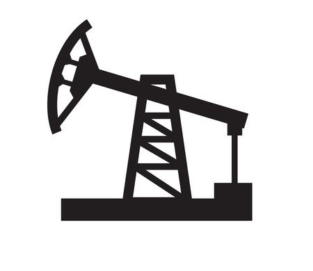 vector black illustration of Oil pump on white Vector
