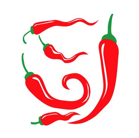 peper: vector color illustration of Chili Pepper on white
